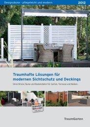 Traumhafte Lösungen für modernen Sichtschutz und Deckings