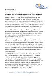 Botswana und Namibia – Wüstensafari im südlichen Afrika
