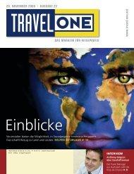DAS MAGAZIN FÜR REISEPROFIS 26. NOVEMBER ... - Travel ONE
