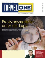 Provisionsmodelle unter der Lupe - Travel ONE