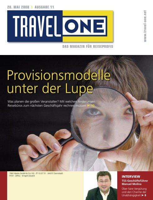 Provisionsmodelle unter der Lupe - Travel ONE