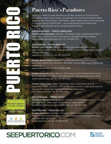 PUERTO RICO'S PARADORES - Travel Agent Academy