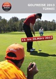 Liebe Golffreunde! - Travel & More