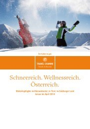 Winterspecials - Travel Charme Hotels & Resorts