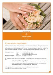 Hochzeitsprospekt - Travel Charme Hotels & Resorts