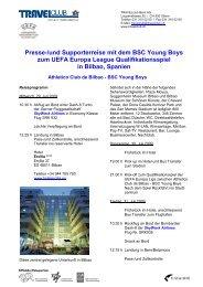Presse-/und Supporterreise mit dem BSC Young Boys ... - Travelclub