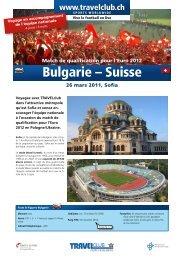Bulgarie – Suisse - Travelclub