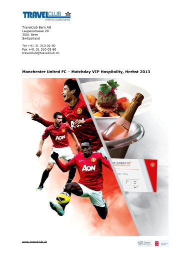 Manchester United FC – Matchday VIP Hospitality ... - Travelclub