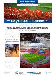 Pays-Bas – Suisse - Travelclub