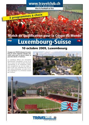 Luxembourg-Suisse - Travelclub
