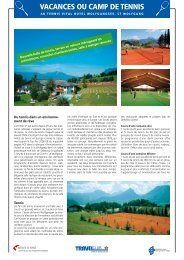 VACANCES OU CAMP DE TENNIS - TRAVELclub