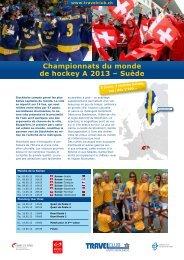 Championnats du monde de hockey A 2013 – Suède - Travelclub