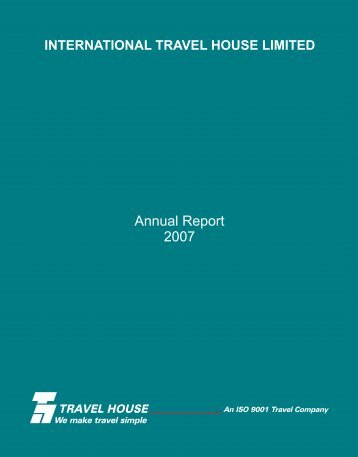 Annual Report 2007 - Travel House