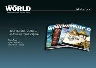Media Data - TRAVELLER´S WORLD Magazin