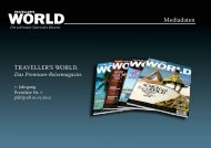 Mediadaten - TRAVELLER´S WORLD Magazin