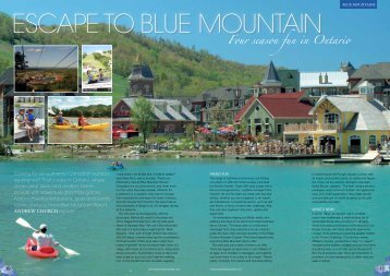 escape to blue mountain - Ontario Tourism