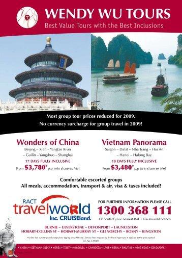 Wendy Wu Tours - Travelworld
