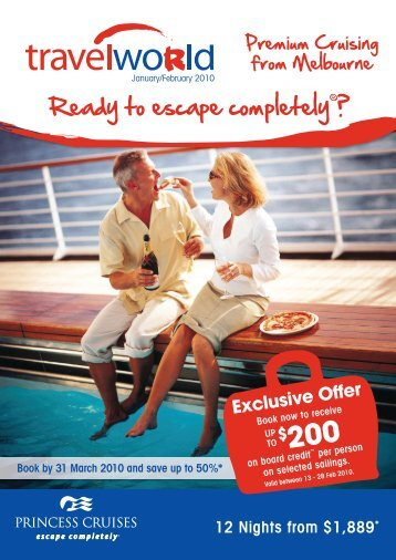 Cruise Offers departing EX Melbourne - Travelworld