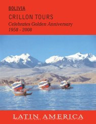 Bolivia, Crillon Tours - Travel World News