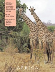 The August '08 Africa Pull Out Supplement - Travel World News