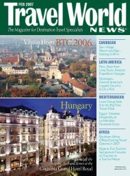Section 1: Industry Events/Europe/Fam Trips - Travel World News