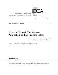 A Neural Network Video Sensor Application for Rail Crossing Safety