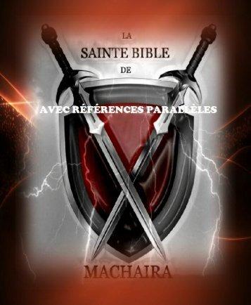 La Sainte Bible de Machaira 2014