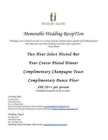 Memorable Wedding RECEPtiON - Treasure Island