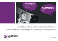 An additional software module for an existing SAP ... - AGIMENDO