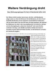 Weitere Verdrängung droht Neue ... - Breitenbach, Elke