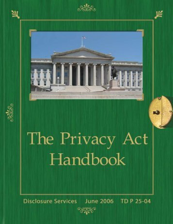 Privacy Act Handbook - Department of the Treasury