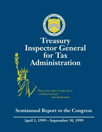 Treasury Inspector General for Tax Administration - Department of ...