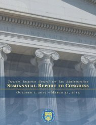Latest Semiannual Report - Department of the Treasury