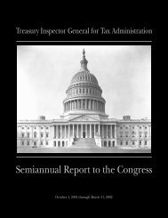 Semiannual Report to the Congress - Department of the Treasury
