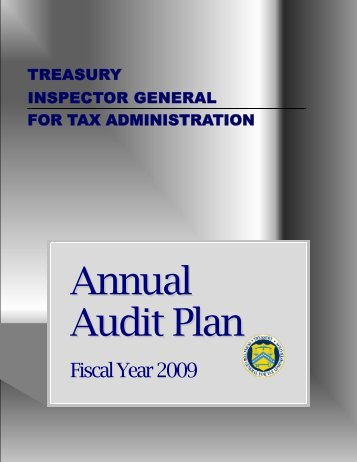 Annual Audit Plan - Department of the Treasury