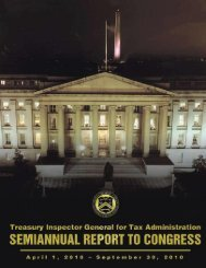 Report - Department of the Treasury