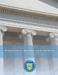 Semiannual Report to Congress - Department of the Treasury