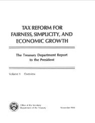Tax Reform for Fairness, Simplicity and Economic Growth