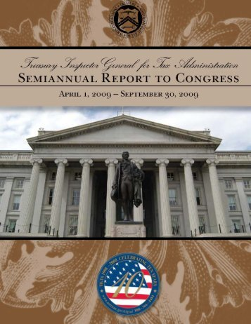 September 30, 2009 - Department of the Treasury