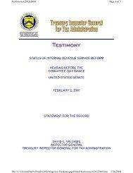 status of internal revenue service reform hearing before
