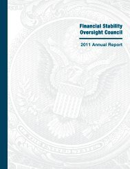 2011 FSOC Annual Report - Department of the Treasury