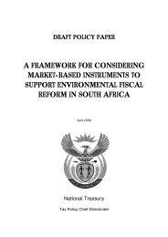 Draft Environmental Fiscal Reform Policy Paper ... - National Treasury