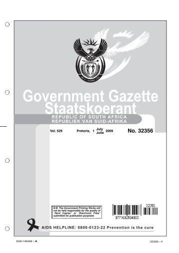 Government Gazette Staatskoerant - National Treasury