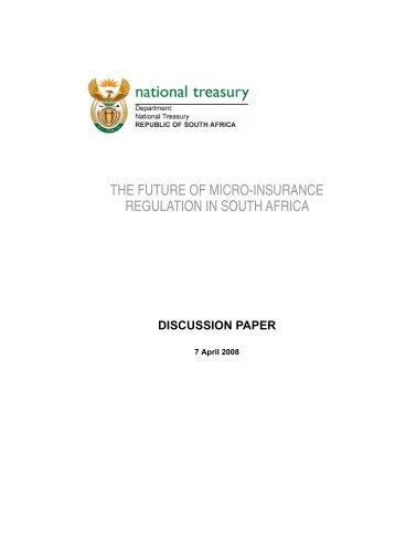 The Future of Micro-insurance Regulation in ... - National Treasury