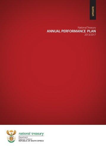 Annual Performance Plan 2013-2017 - National Treasury