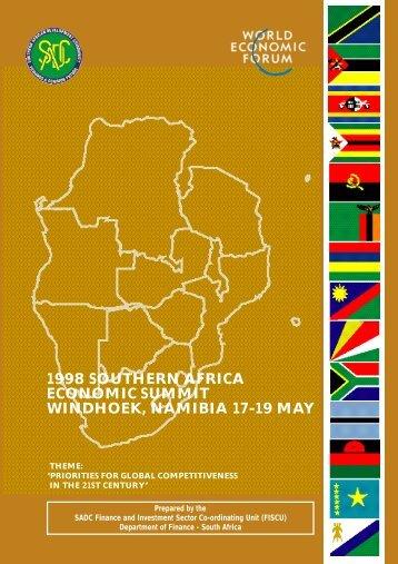 1998 SOUTHERN AFRICA ECONOMIC ... - National Treasury