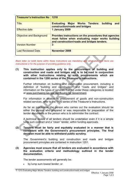 PPB - TI 1210 v3 (superseded) pdf - Department of Treasury