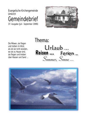 Juli 1999 - Evangelische Kirchengemeinde Umkirch