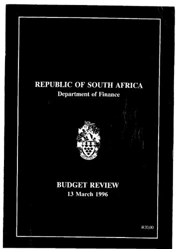 1996 - National Treasury