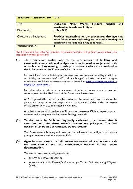 PPB TI 1210 v4 pdf - Department of Treasury and Finance